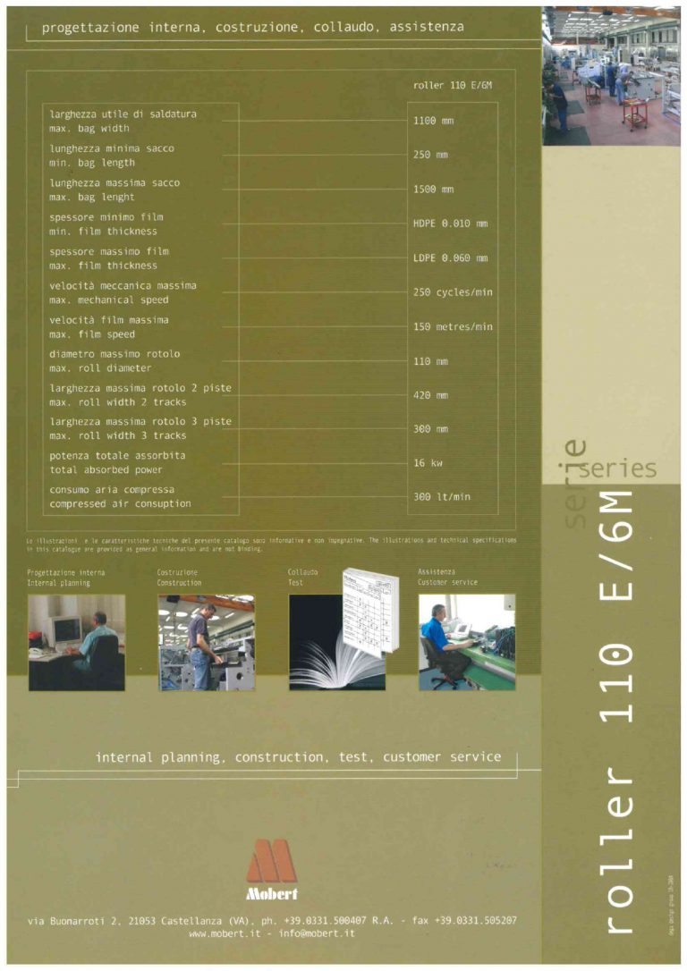 SALDATRICE MOBERT MOD. ROLLER 110E/6M-PN11R32